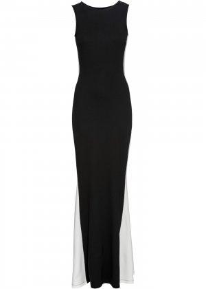 Коктейльное платье макси bonprix. Цвет: черный