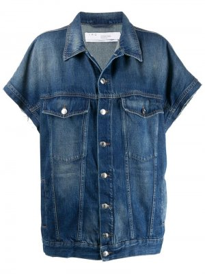 Джинсовая куртка с короткими рукавами Iro. Цвет: синий