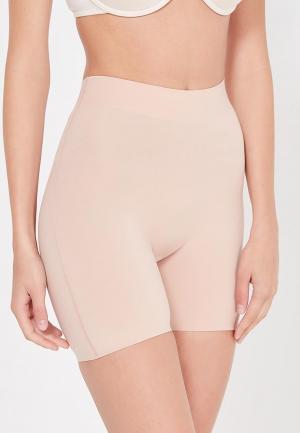Белье корректирующее Wolford Cotton Contour Control Shorts. Цвет: розовый