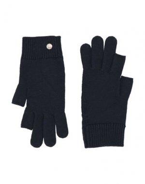Перчатки RICK OWENS. Цвет: темно-синий