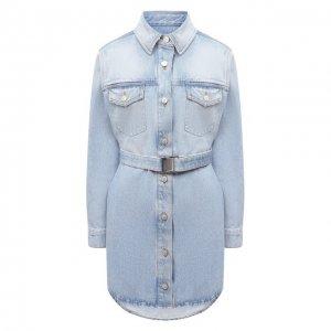 Джинсовое платье Off-White. Цвет: голубой