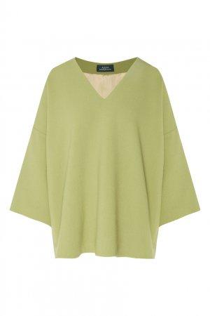 Салатовый пуловер свободного кроя Alena Akhmadullina. Цвет: зеленый
