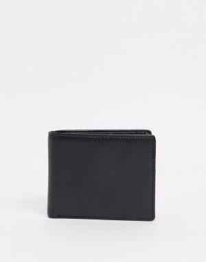Кожаный бумажник Smith & Canova-Черный And Canova