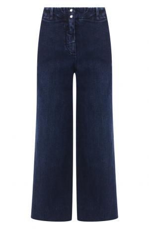 Укороченные джинсы с потертостями Loro Piana. Цвет: синий