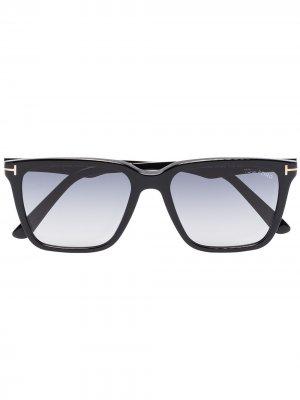 Солнцезащитные очки Garrett в квадратной оправе TOM FORD Eyewear. Цвет: черный