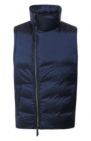 Пуховый жилет Giorgio Armani. Цвет: синий