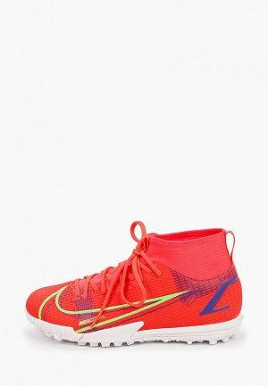 Шиповки Nike JR SUPERFLY 8 ACADEMY TF. Цвет: красный