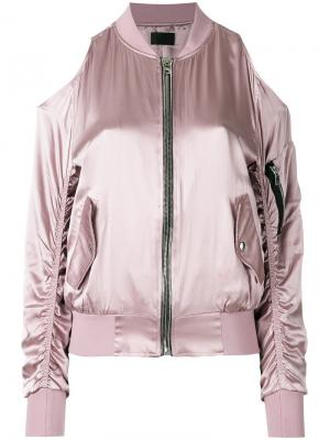 Куртка бомбер на молнии Rta. Цвет: розовый и фиолетовый