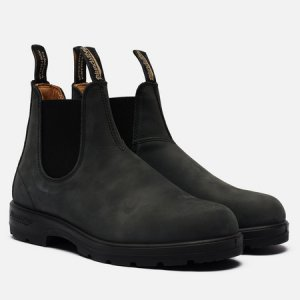 Ботинки 587 Round Toe Chelsea Leather Blundstone. Цвет: чёрный