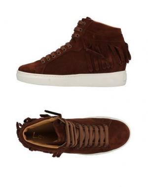 Высокие кеды и кроссовки LEMARÉ. Цвет: какао