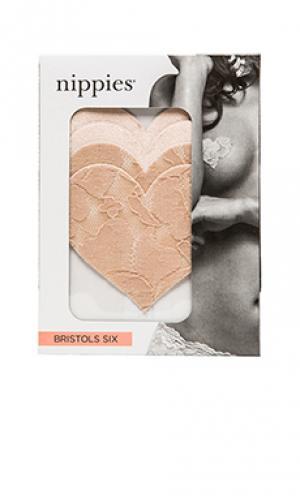 Накладки в виде сердечка nippies Bristols6. Цвет: беж