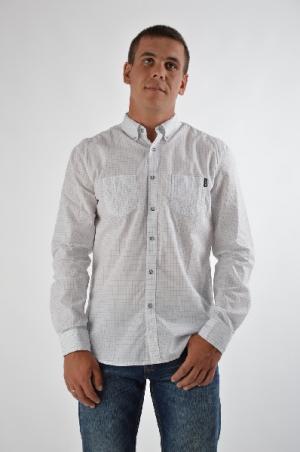 Рубашка CONVER. Цвет: белый