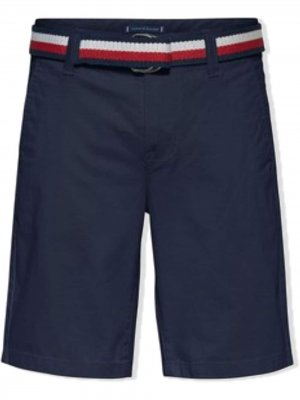 TEEN belted chino shorts Tommy Hilfiger Junior. Цвет: синий