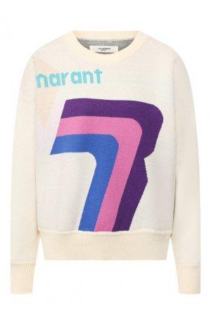 Хлопковый пуловер Isabel Marant Etoile. Цвет: голубой