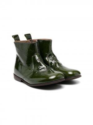Лакированные ботинки Pèpè. Цвет: зеленый