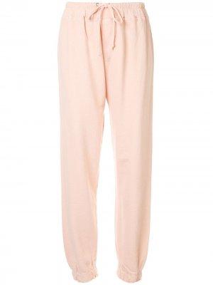 Спортивные брюки с кулиской Current/Elliott. Цвет: розовый