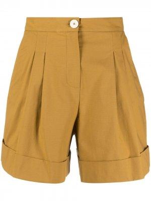 Широкие шорты строгого кроя Alysi. Цвет: нейтральные цвета