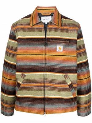 Куртка-рубашка Detroit Tuscon в полоску Carhartt WIP. Цвет: оранжевый