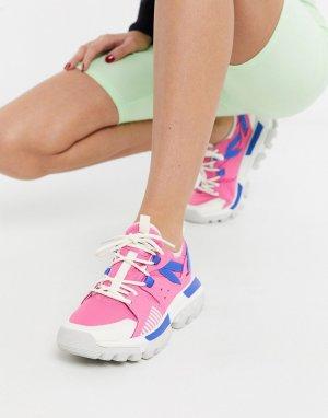 Розовые кроссовки на массивной подошве CAT Raider Sport-Розовый Footwear