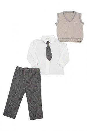 Жилет, брюки, рубашка, галстук Bimbalo. Цвет: не указан