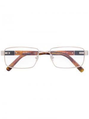 Square frame glasses Salvatore Ferragamo Eyewear. Цвет: коричневый
