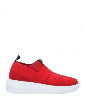 Кеды и кроссовки FESSURA. Цвет: красный