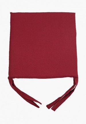 Подушка на стул Эго 40х40. Цвет: бордовый