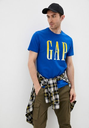 Футболка Gap. Цвет: синий