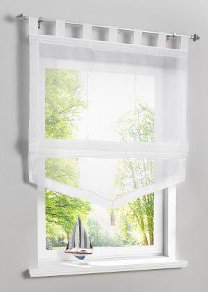 Римская штора с окантовкой bonprix. Цвет: белый