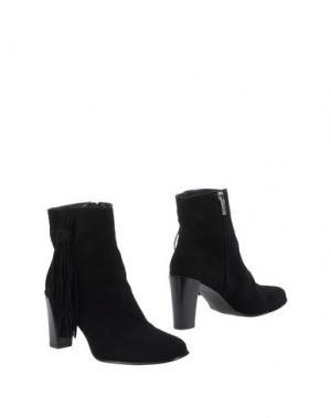 Полусапоги и высокие ботинки KAREN MILLEN. Цвет: черный