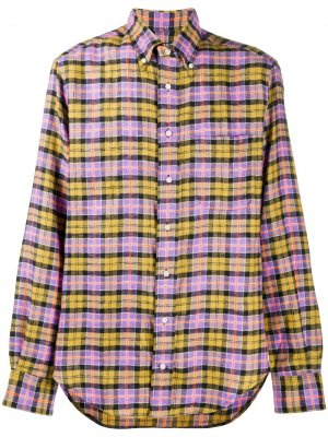Рубашка в клетку тартан Gitman Vintage. Цвет: фиолетовый