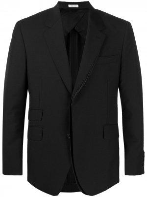 Пиджак со вставкой в полоску Alexander McQueen. Цвет: черный