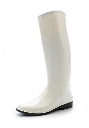 Резиновые сапоги Anra. Цвет: белый