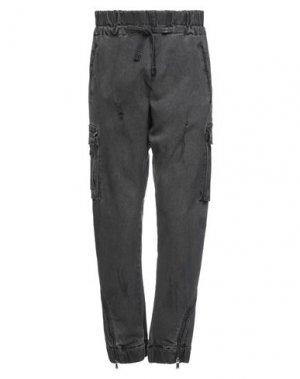 Джинсовые брюки 10SEI0OTTO. Цвет: свинцово-серый