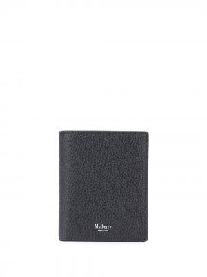 Бумажник с логотипом Mulberry. Цвет: черный