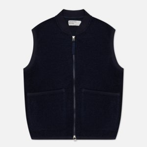 Мужской жилет Zip Wool Fleece Universal Works. Цвет: синий