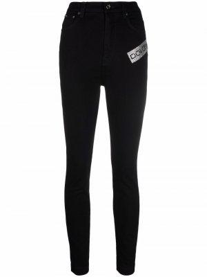 Logo-embellished skinny jeans Dolce & Gabbana. Цвет: черный