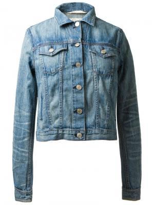 Укороченная джинсовая куртка Rag & Bone. Цвет: синий