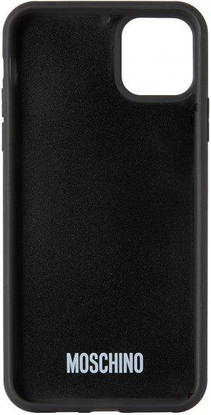 Black Teddy Bear iPhone 11 Pro Max Case Moschino. Цвет: a1555 black