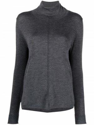 Roll-neck wool jumper Aspesi. Цвет: серый