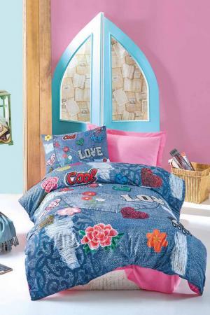 Детское постельное белье Cotton box. Цвет: pink, dark blue, green