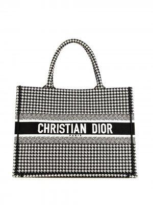 Маленькая сумка-тоут Book pre-owned Christian Dior. Цвет: белый