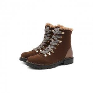 Кожаные ботинки Jarrett. Цвет: коричневый