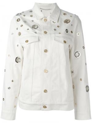 Джинсовая куртка с декоративными люверсами Kenzo. Цвет: телесный