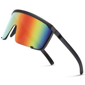Мужские велосипедные солнцезащитные очки с запахом SHEIN. Цвет: многоцветный