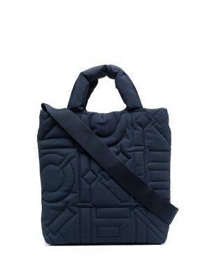 Дутая сумка-тоут Kenzo. Цвет: синий