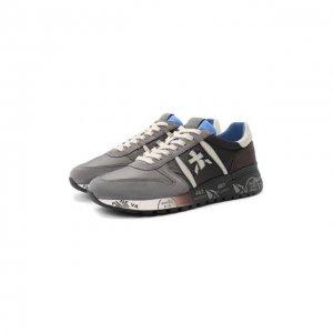 Комбинированные кроссовки Lander Premiata. Цвет: серый