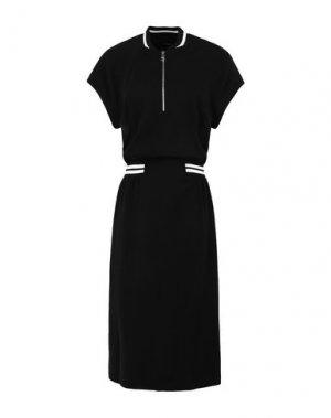 Платье длиной 3/4 KARL LAGERFELD. Цвет: черный
