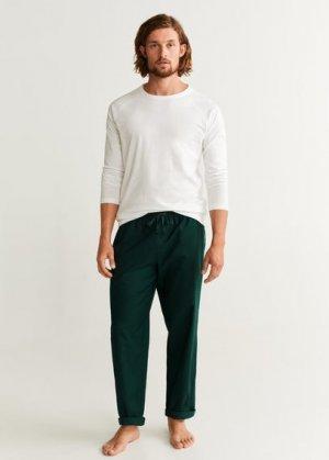 Комплект пижама из хлопка - Piliso Mango. Цвет: темно-зеленый