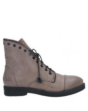 Полусапоги и высокие ботинки FRANCESCO MILANO. Цвет: хаки